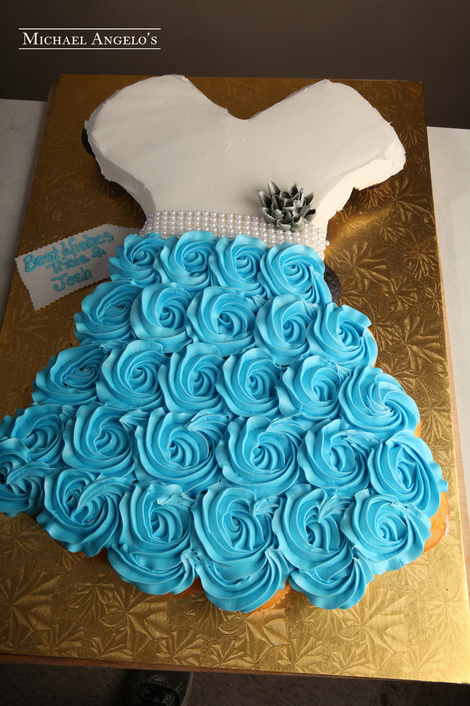Blue Fever Dress Cupcake Cake #91Bridal