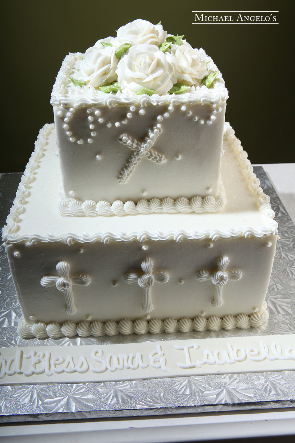 Ivory Buttercream & Flowers #96Religious