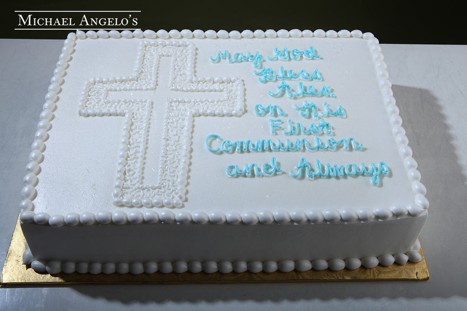 Cross on Sheet Cake #101Religious