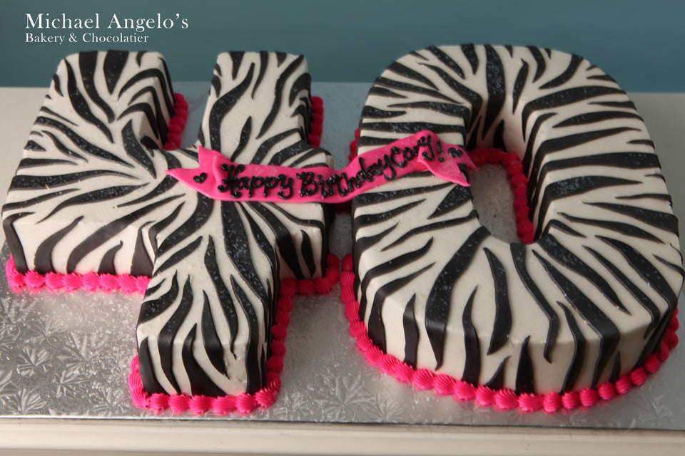 Zebra Number Cake #15AnimalPrint