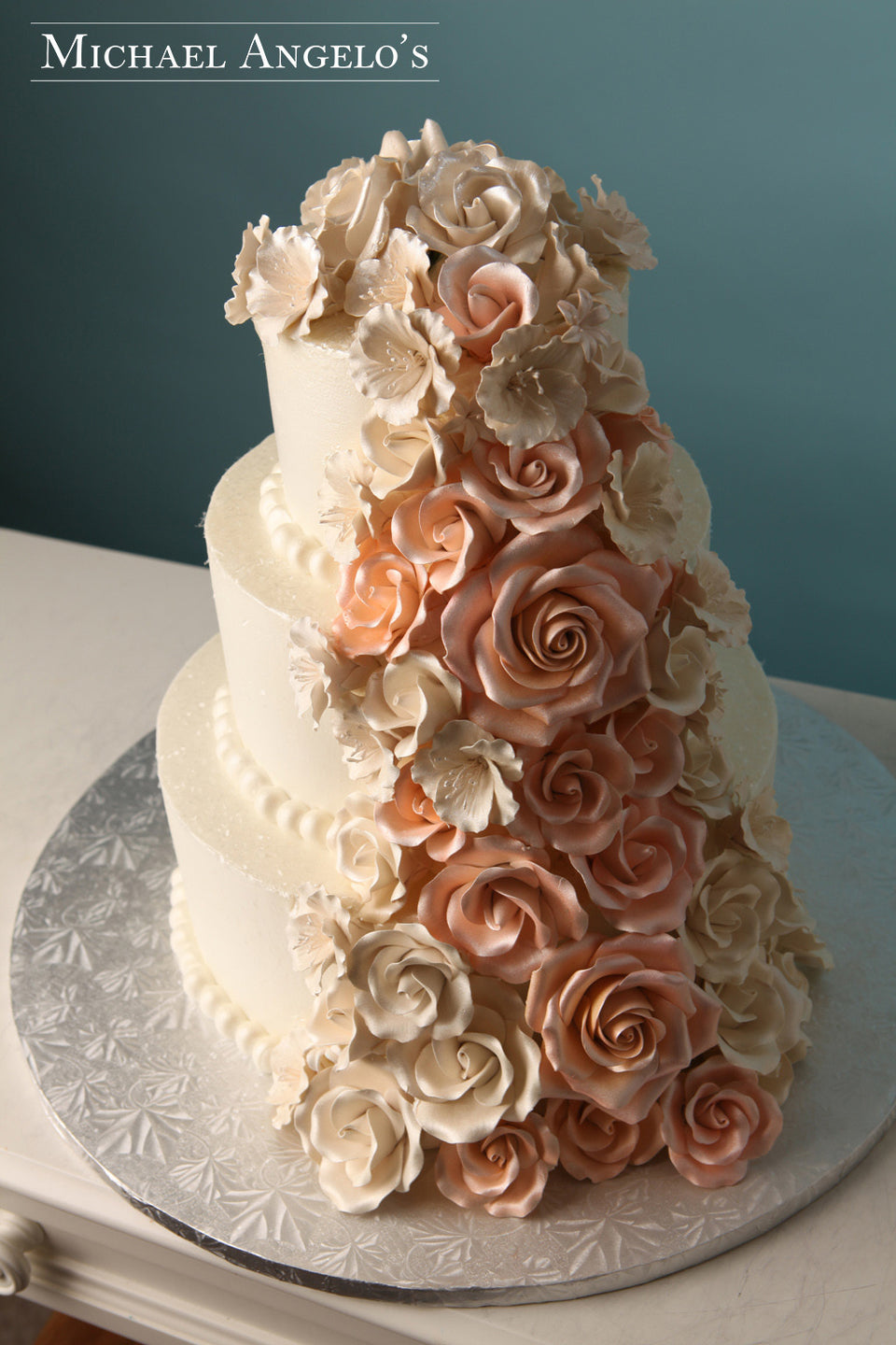 Pink & Ivory Roses #25Floral