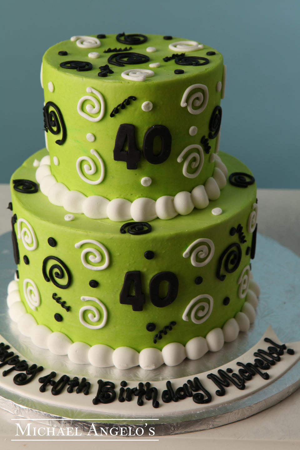 Lime Green with Swirls #27Swirls