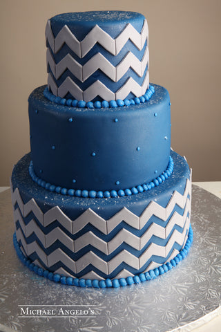 Blue Chevron #78Modern