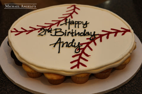 Baseball Cupcake Cake #243Hobbies