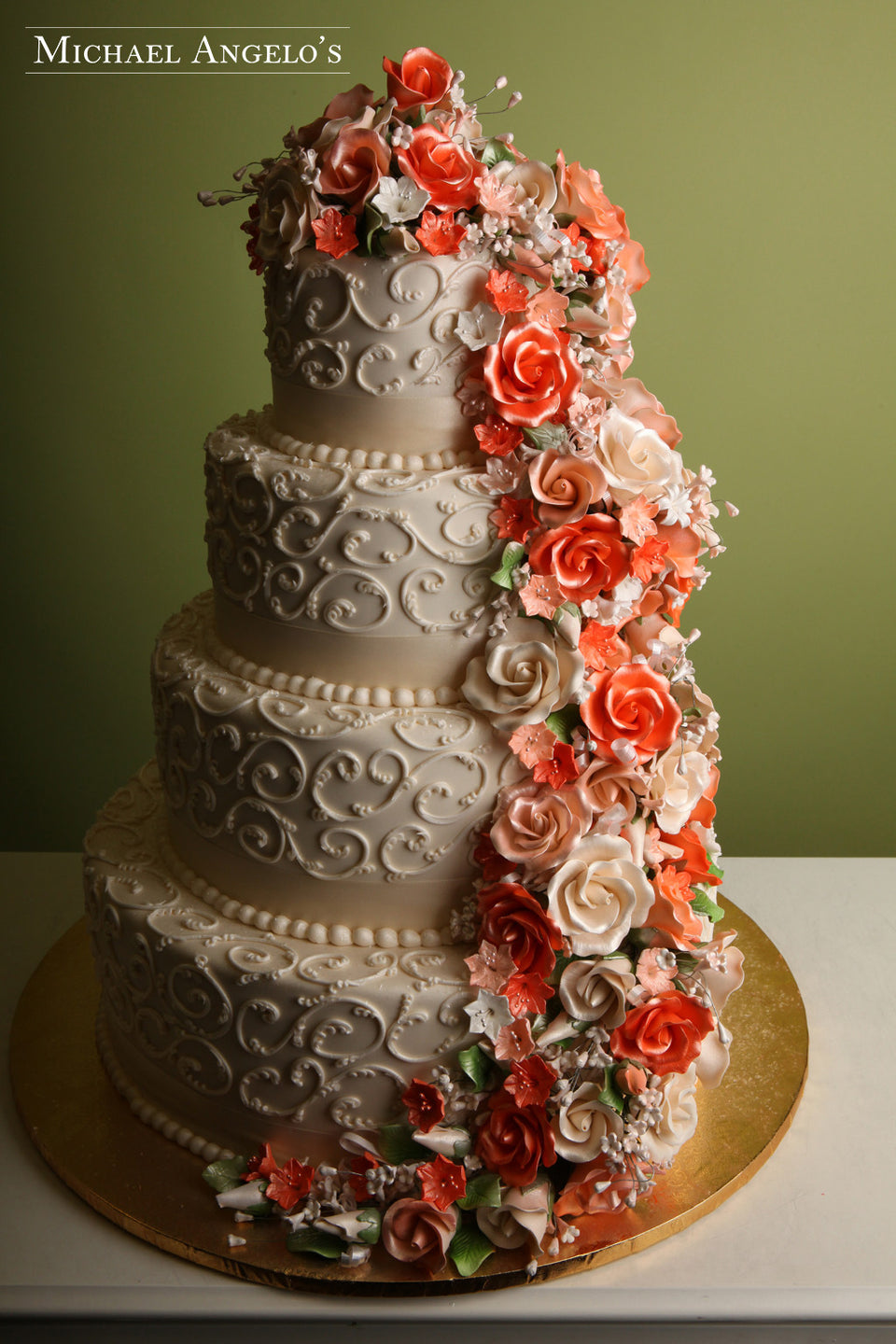 Peach and Ivory Roses #37Floral