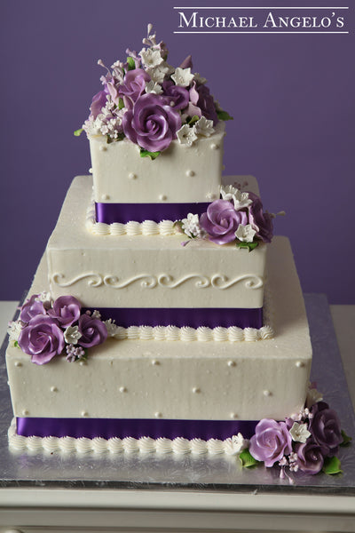 Purple Ribbon & Rose #40Classic