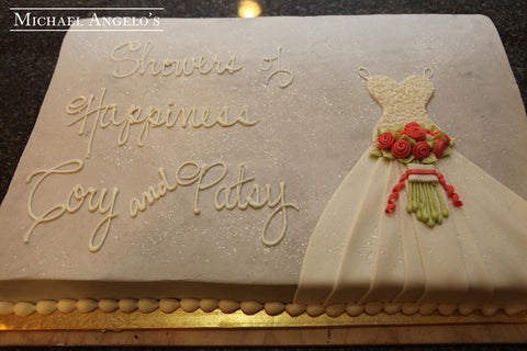 Bridal Dress Shower Cake #81Bridal