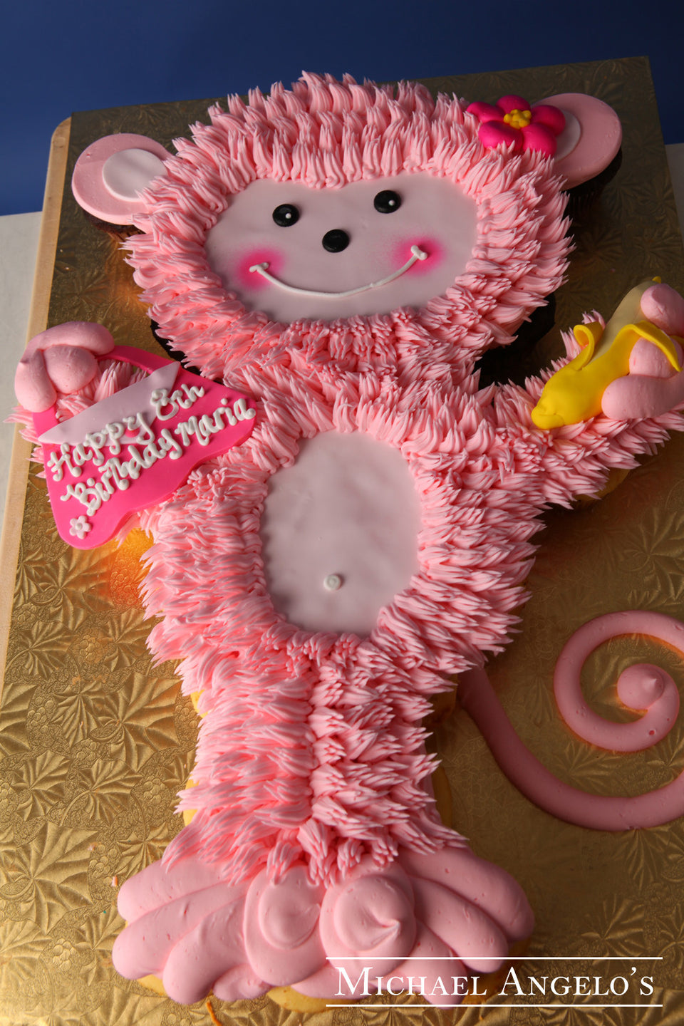 Monkey Cupcake Cake #16Animals