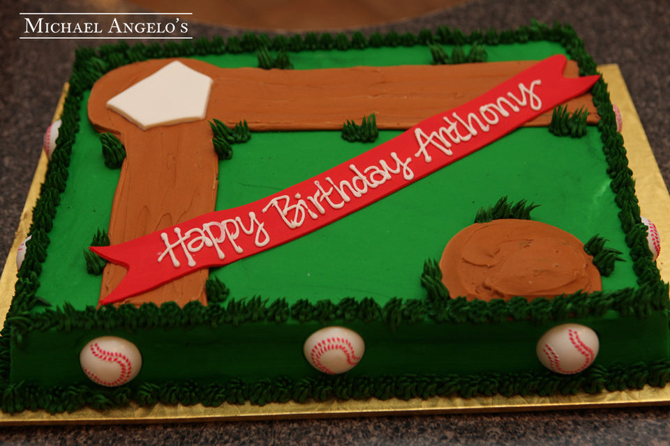 Baseball Field Sheetcake #246Hobbies