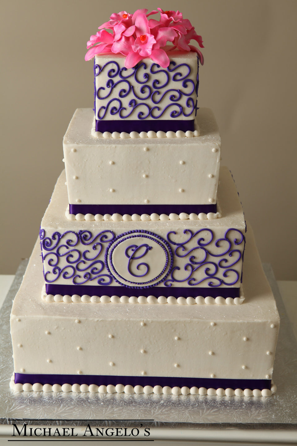 Royal Purple Swirls #34Ribbons