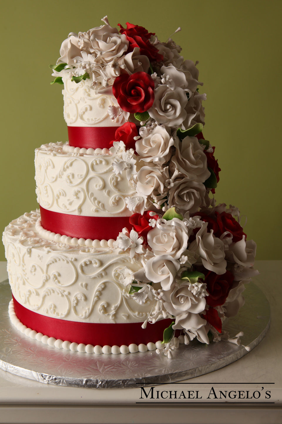 Classic Red & Ivory #43Ribbons