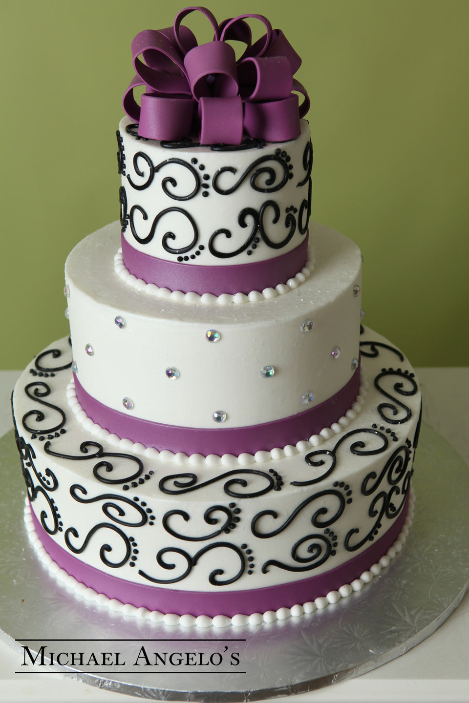 Purple & Swirls #51Ribbons