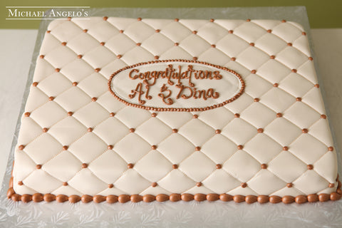 Bridal Quilt Sheetcake #49Bridal