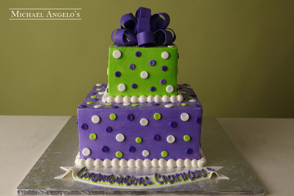 Purple Bow & Polka Dots #7Present