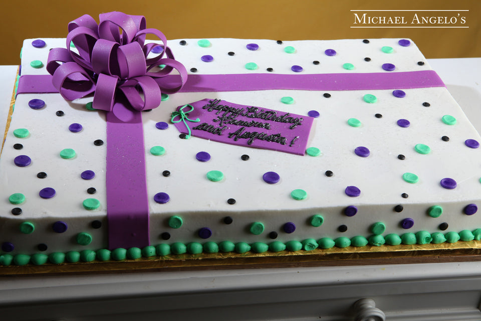 Purple & Green Sheetcake #33Present
