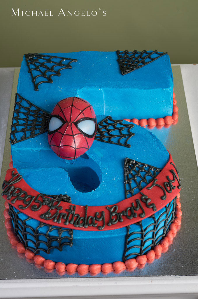 Spider-Man Number Cake  #326Characters