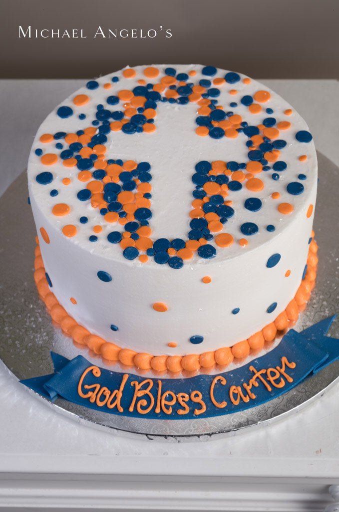 Orange & Blue Cross #145Religious