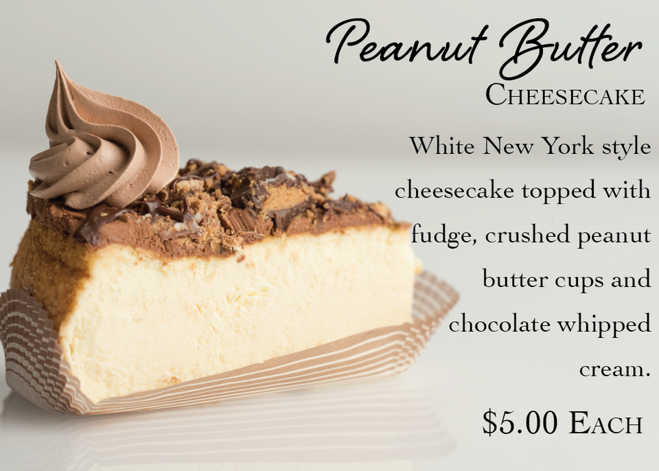 Peanut Butter Cheesecake Slice