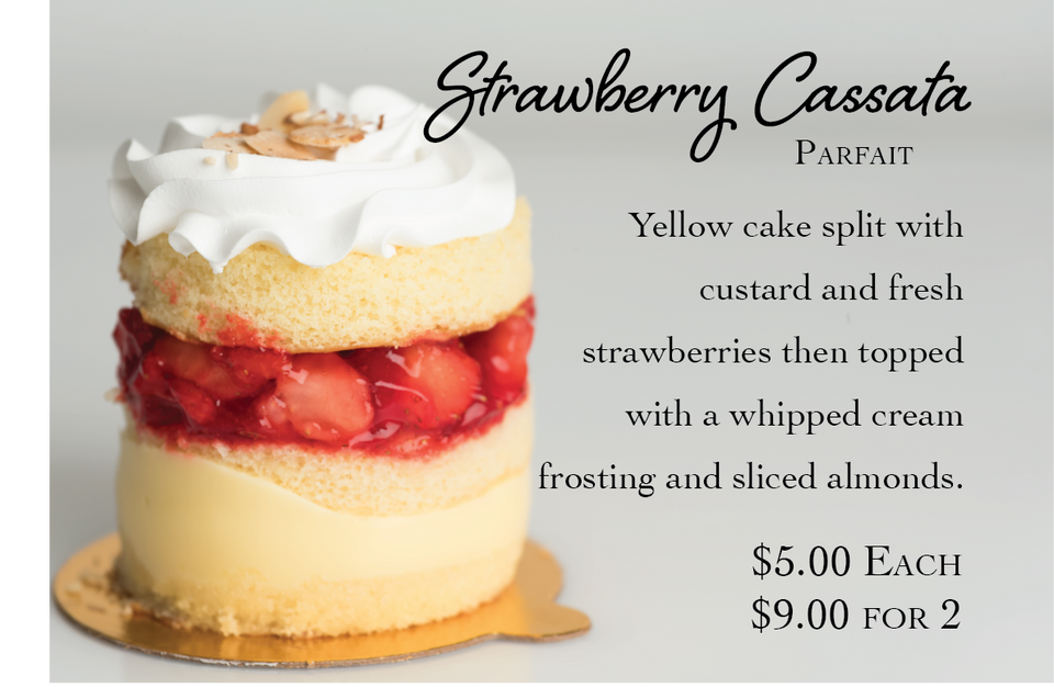 Strawberry Cassata Parfait