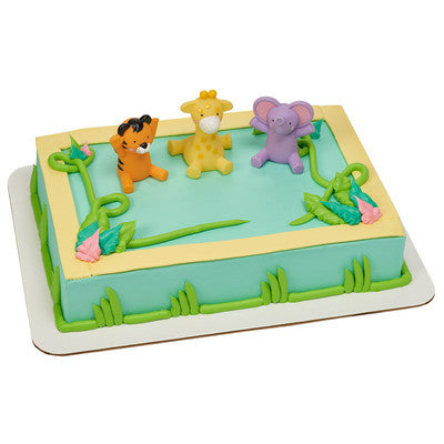 Zoo Number Cake #35Milestones(PICTURED JUNGLE ANIMAL KIT IS NOT AVAILABLE)