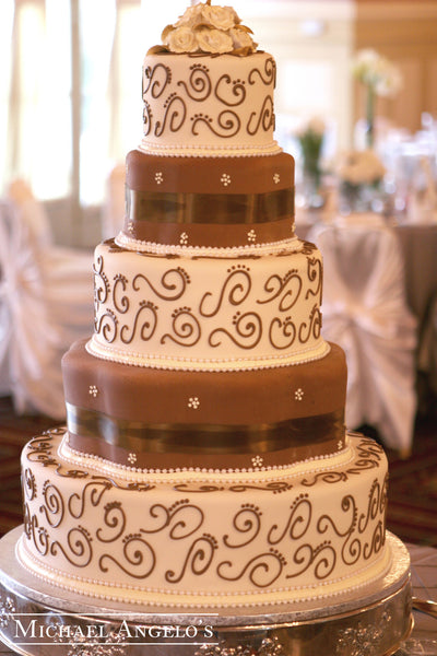 Brown Petal Tiers #3Ribbons