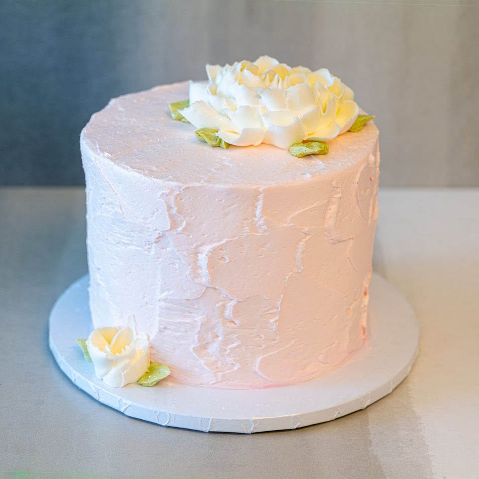 Online Cake  Order - Pink Texture with Flowers #23Featured