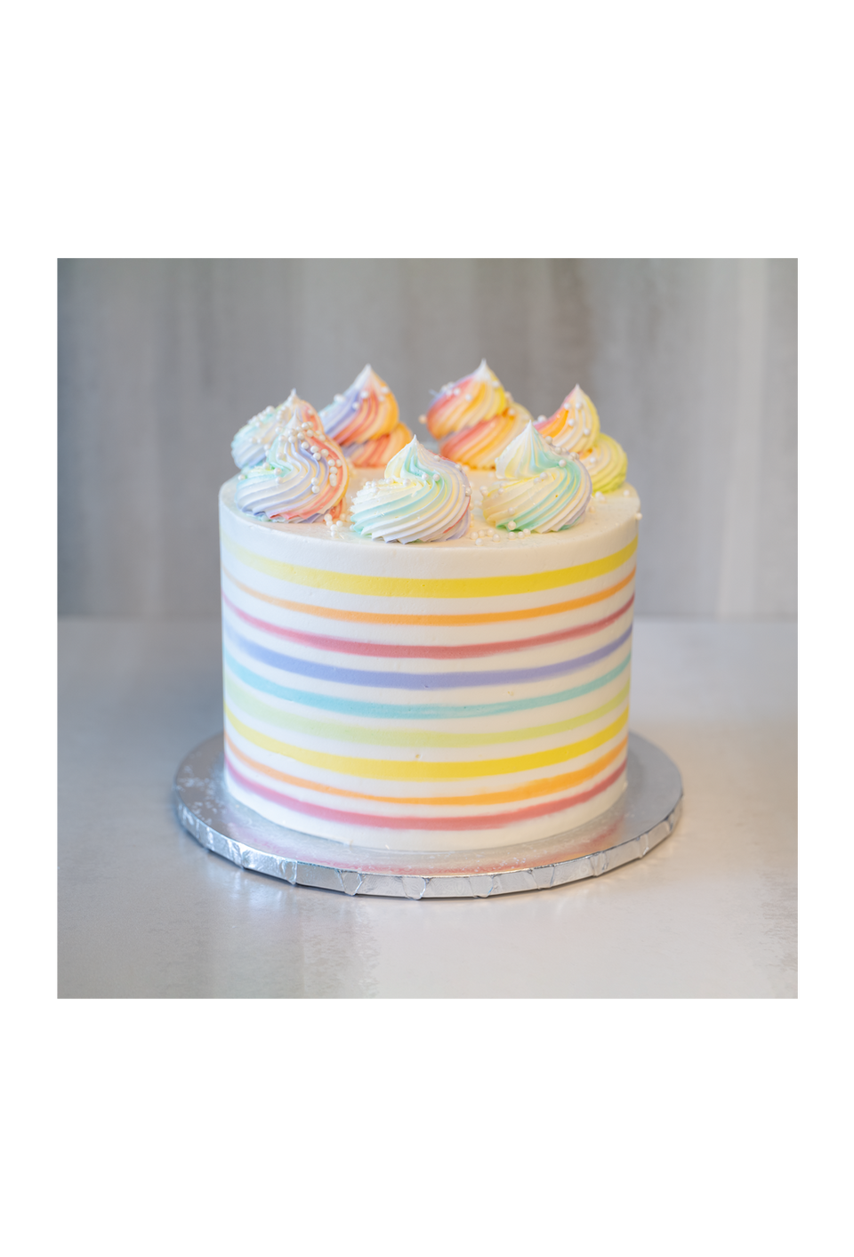 Online Cake  Order - Rainbow Stripes #21Featured