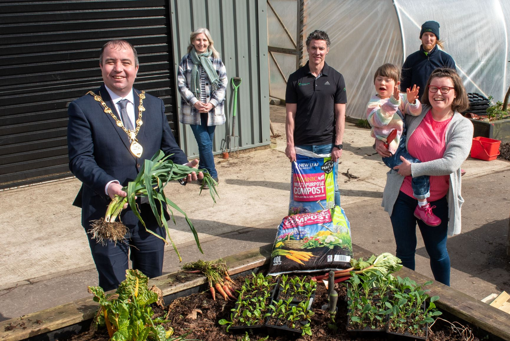 New Leaf Compost provides boost to Derry and Strabane 'I can grow' project