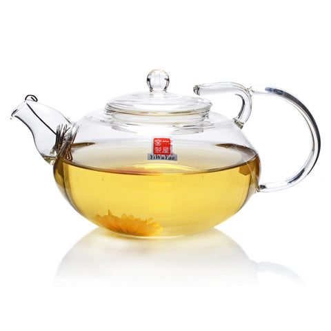 Clear Glass Teapot 360ml FH-245 #0082. http://china-cha-dao.com