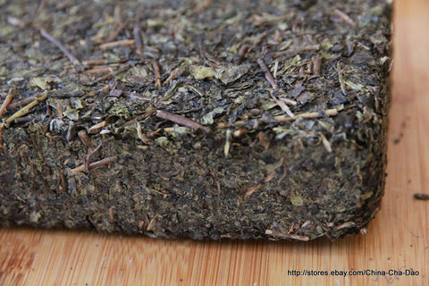 "2011 ""An Hua Hei Cha"" Famous Hunan Black Tea Brick 338g China Cha Dao 