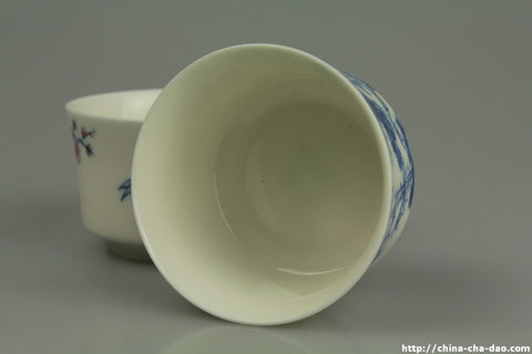 Porcelain Gongfu Tea Cups x 4 50ml #0206 http://china-cha-dao.com