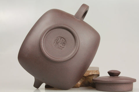 "Yixing Zisha Purple Clay Teapot ""The House"" 200ml #292. http://china-cha-dao.com"