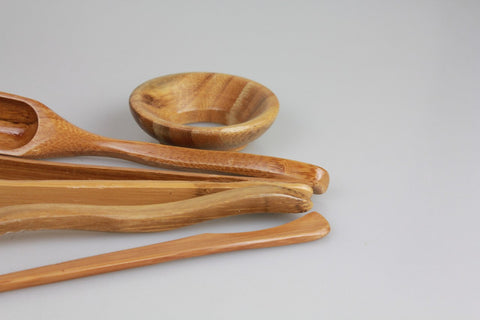 Bamboo Cha Dao Set 6 Pieces * Tea Utensil