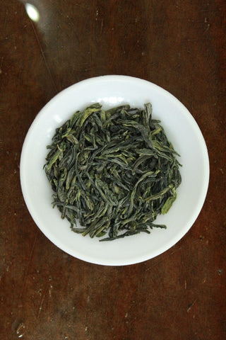 "Premium ""Liu An Gua Pian"" (Melon Slice) Green Tea 100g. http://china-cha-dao.com"
