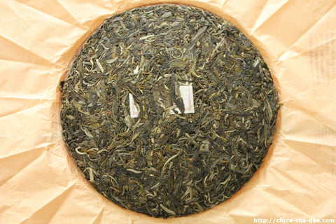 "2013 Douji Pure Series ""Jing Mai"" Raw Puerh Tea Cake 357g http:china-cha-dao.com"