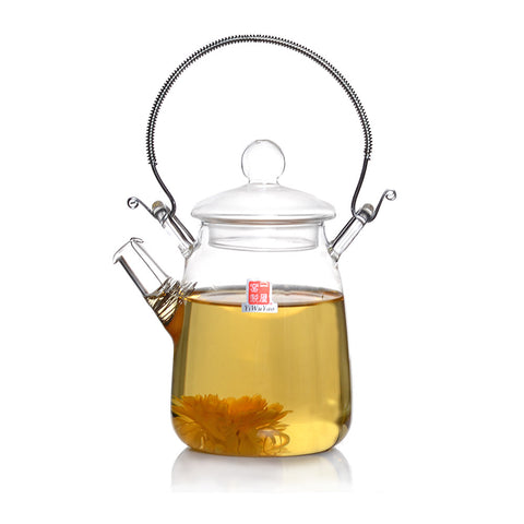 Clear Glass Teapot with Handle 300ml FH-206 #0065. http://china-cha-dao.com
