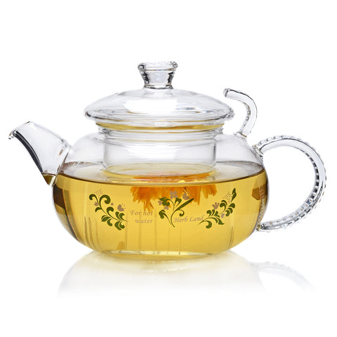 Clear Glass Teapot with Lid & Filter 500ml FH-702DR #0027. http://china-cha-dao.com
