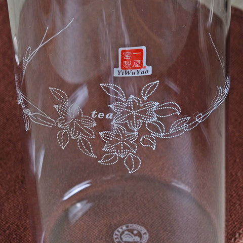 Clear Glass Canister / Hermetic Caddy 800ml FH-905L #0056. http://china-cha-dao.com