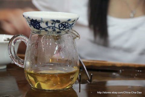 2011 Douji Top Blend Jin Dou Raw Puerh Tea Cake. http:china-cha-dao.com