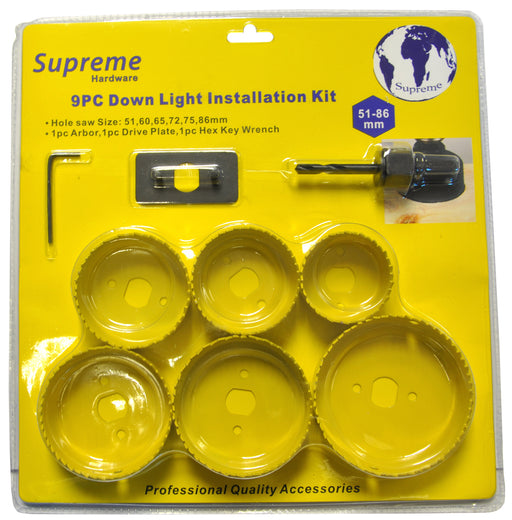SUPREME 8 PIECE DOWNLIGHT KIT