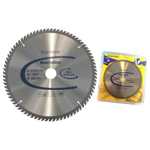 SUPREME TCT CIRCULAR WOOD SAW BLADE - 2.6 x 30 x 250MM x 80T