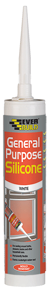 EVERBUILD GENERAL PURPOSE SILICONE WHITE - 290ML (C3)
