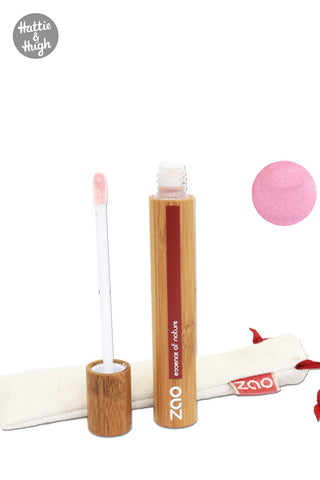 Zao Organic Liquid Lip Gloss 001 Pink
