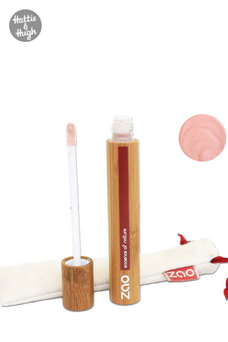 Zao Organic Lip Gloss Beige at Hattie & Hugh