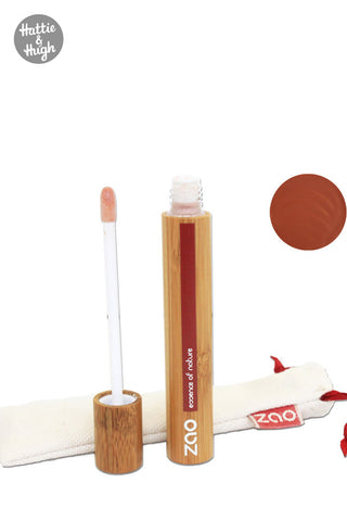 Zao Organic Makeup Lip Gloss in Nude Brown at Hattie & Hugh