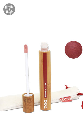 Zao Organic Liquid Lip Gloss 005 Burgundy