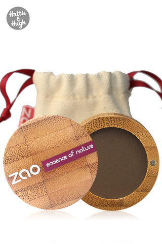 Zao Organic Matt Eyeshadow 203 Dark Brown at Hattie and Hugh