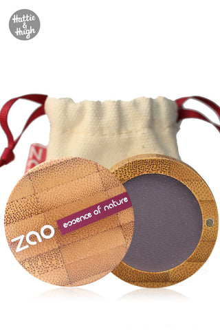Zao Organic Matt Eyeshadow 205 Dark Purple at Hattie & Hugh