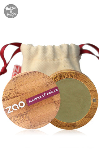 Zao Organic Matt Eyeshadow 207 Olive Green at Hattie & Hugh