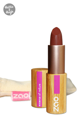 Zao Organic Matt Lipstick 466 Chocolate at Hattie & Hugh